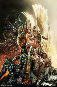 top cow , first born cover by nebezial