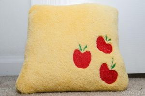 Applejack Pillow by poniesNpillows