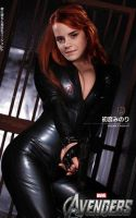 Emma Watson as Black Widow by SirStunsalot