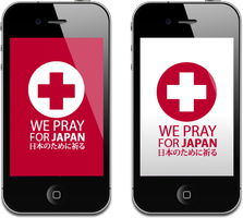 WE PRAY FOR JAPAN Iphone by Lemongraphic