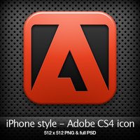 iPhone style - Adobe CS4 icon by YaroManzarek