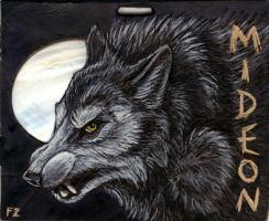 Mideon Werewolf Badge by Foxfeather248