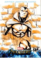 Avengers Sketch Card Vision II by RAHeight2002-2012