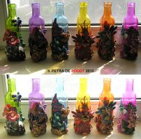 Coloured Bottle Series - All Six by spaceship505