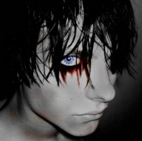 Blue eyed suicide by StrayBulletkmfdm