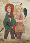 The Walking Disney/Pixar : Merida and Rapunzel 2 by Kasami-Sensei