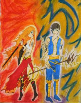 Fire and Storm by Amaronte