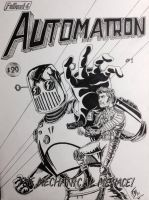 Fallout 4 Comic Book Cover - Automatron #1 by Sketch-Fox
