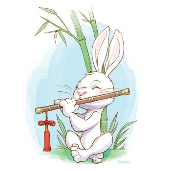 Flute Tootin' Bunny by D-MAC