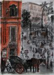 The Spanish Steps - Charcoal by Nippip