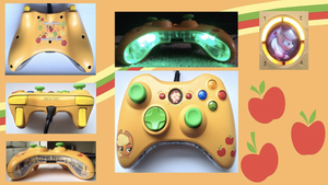Apple Jack Custom X360 / PC Wired Controller by CARDI-ology