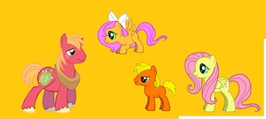 Big Macintosh, Fluttershy and their kids by TwilightSparkleStar
