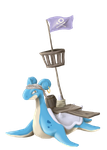 Charity Collab: Pirate Lapras by DeviBrigard