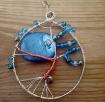 Blue Moon Tree of Life pendant by WyckedDreamsDesigns