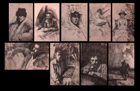 Zorn etching studies by RembertMontald