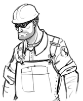 Engineer Sketch by HAZENHYTE