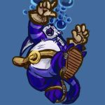 Big the Cat takes too much water. by runde