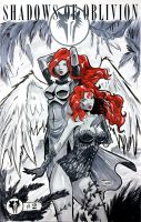 Two Sketch 50: Poison Ivy and WarAngel by Shono