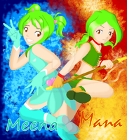 [COMISSION] Meena and Mana redeign by FeithLAuthor