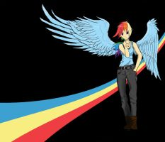 Human Rainbow Dash by Stormcolt413