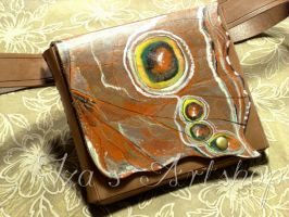 Butterfly Leather Belt Bag by izasartshop