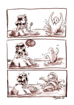 Fish Maiden Comic Pt I by HanieMohd