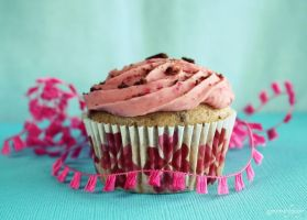 Choc Cookie Raspberry Cupcake by apparentlyjessy