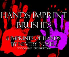 Hands Imprint Brushes by Neveryph-stock
