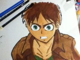 latset copic art drawing of eren jaeger by Nitsua-the-great