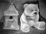 Birdhouse-bear by lashedcheek