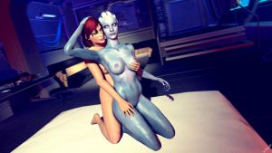 FemShep and Liara 2 by Rescraft