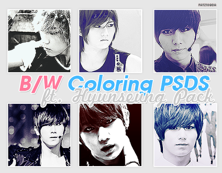 B/W Coloring PSDs Pack (ft. B2ST's Hyunseung) by fatz18