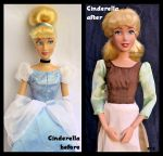 repainted ooak cinderella doll. - our cinderelly. by verirrtesIrrlicht