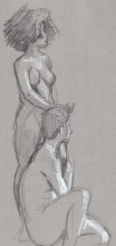 Life drawing practice 3 by FredHooper