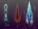 Elemental Swords Weapon Adopts (closed) by Nano-Core