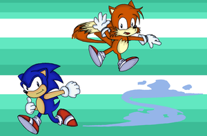 Classic Sonic and Tails by Doodlz18