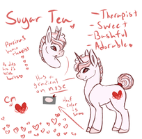 Sugar Tea Reference by Amiookamiwolf