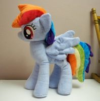 Rainbow Dash plushie by Yukamina-Plushies