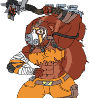 Female squirrel Krieg colored by HankJWimblton