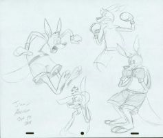 Boxing Roo Model Sheet 2 by jimferno