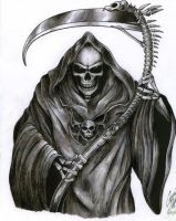 The Grim Reaper Tattoo by leadz-n-inkz