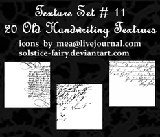 Texture Set 11 - Handwriting by solstice-fairy
