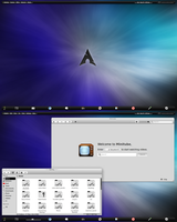 Arch KDE be::shell/bespin Black and Gray by CraazyT