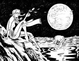 Moon commission by davechisholm