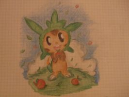 Drawing/Art Contest Entry for Superbu1818 -Chespin by TreeckoAndArt