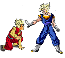 Saiyan Hero Ssj vs Maijn Vegetto VIII by pabex
