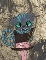 Cheshire Cat with a Hat by FableWing