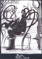 Slender Man is waiting... by Pygmyink