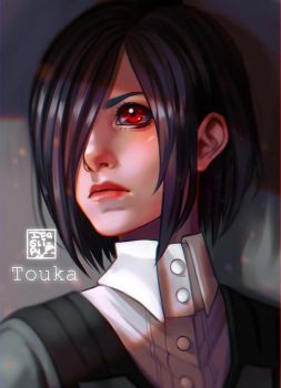 Fanart bust commission - Touka [Tokyo Ghoul] by ItaSlipy