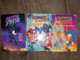 No I Have 3 Sonic Junior Novels From Troll Books by bvw1979